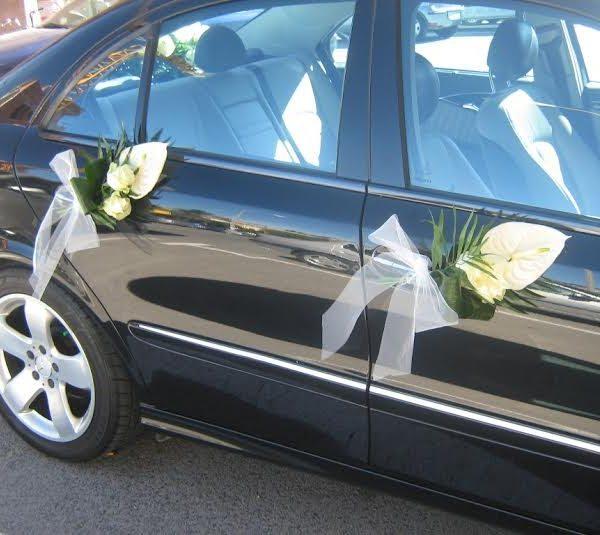 Coche novia m2 flores isma - Decoracion coche novia ...